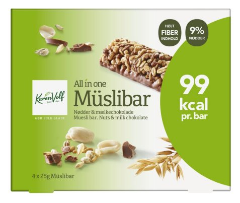 Bilde av Karen Volf muslibars milk chocolate 100gr.