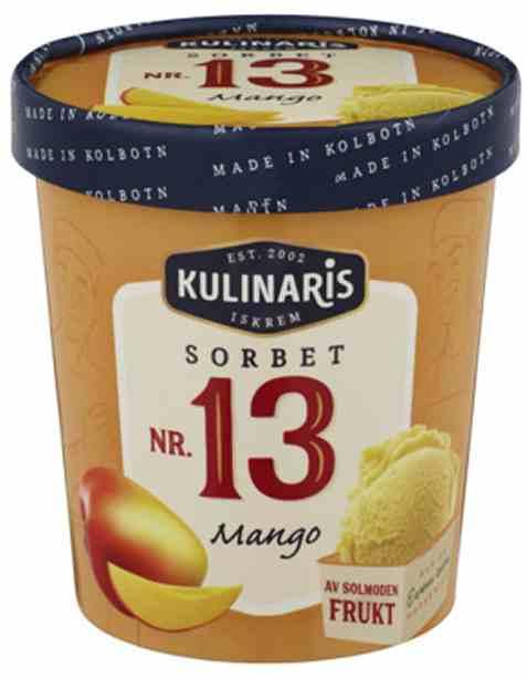 Bilde av Kulinaris mangosorbet.