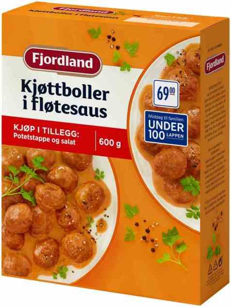 Bilde av Fjordland Kjøttboller i fløtesaus 600gr.
