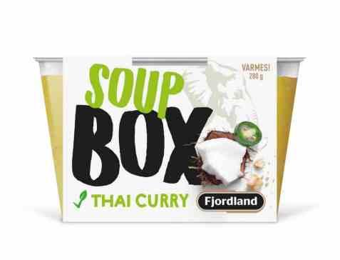 Bilde av Fjordland box thai curry soup.