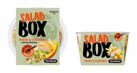 Bilde av Fjordland box pasta and chicken salad.
