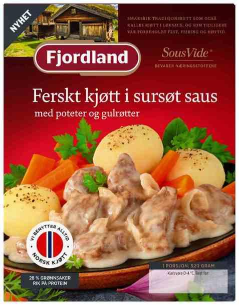 Bilde av Fjordland Ferskt Kjøtt i Sursøt Saus.