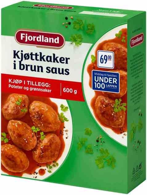 Bilde av Fjordland Kjøttkaker i Brun Saus 600g.