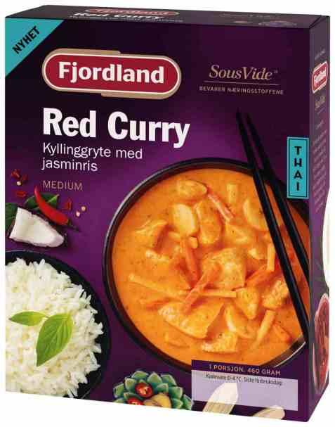 Bilde av Fjordland Red Curry Thailandsk Kyllinggryte med Jasminris.