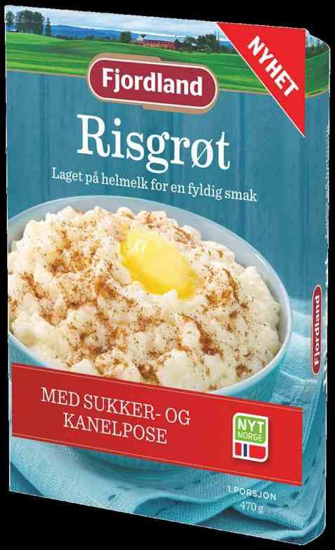 Bilde av Fjordland Risgrøt med sukker og kanel.