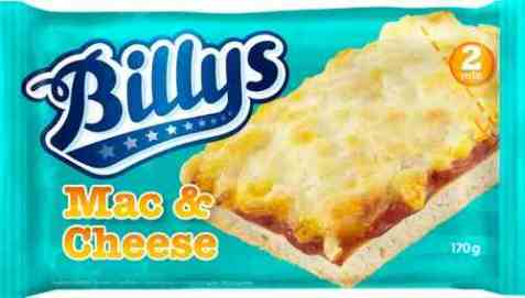 Bilde av Billys Pan Pizza mac and cheese.