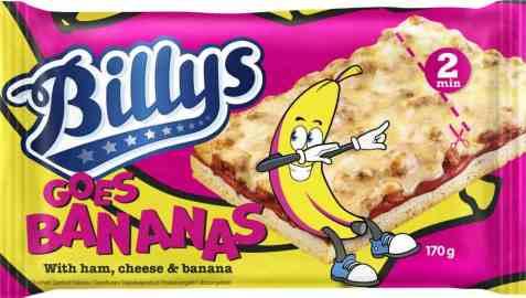 Bilde av Billys Pan Pizza Goes Bananas.