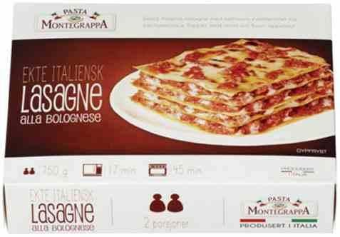 Bilde av Montegrappa lasagne bolognese.