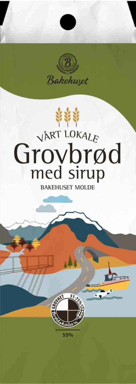 Bilde av Bakehuset Molde grovbrød med sirup.