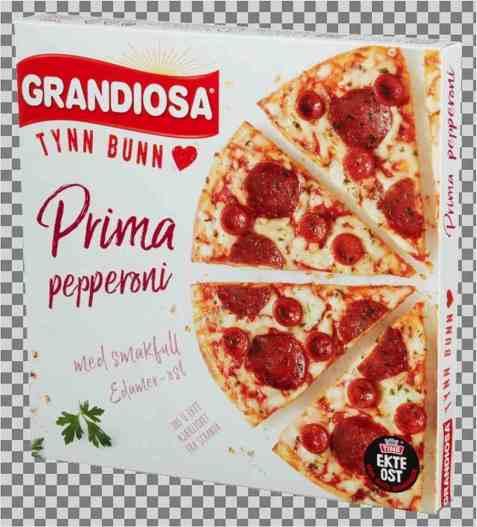 Bilde av Grandiosa Tynn Bunn prima pepperoni.
