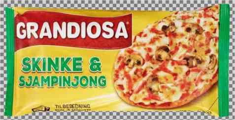 Bilde av Grandiosa Pizzaslice skinke og sjampinjong.