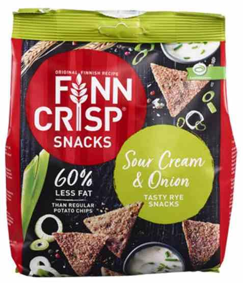 Bilde av Finn Crisp Knekkebrød Rye Snacks sourcream and onion.