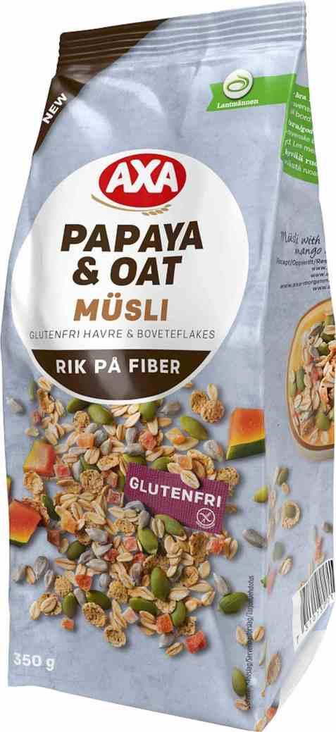 Bilde av AXA glutenfri musli papaya og havre.