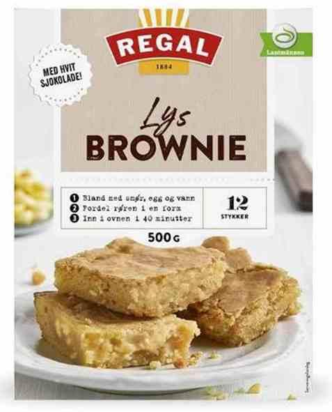 Bilde av Regal lys brownies.