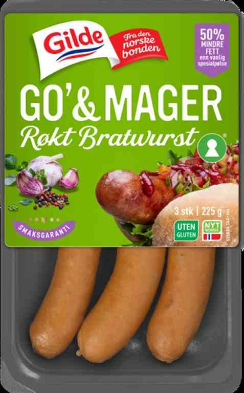 Bilde av Gilde Go og Mager Røkt Bratwurst.