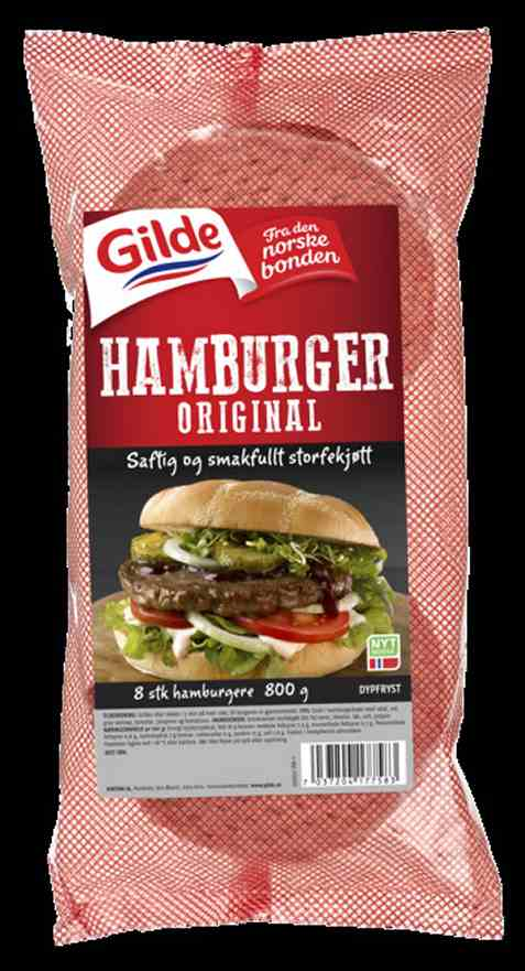 Bilde av Gilde Hamburgere original fryst.