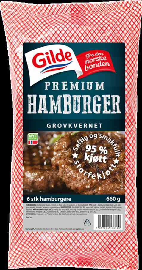 Bilde av Gilde Premium Burger fryst.