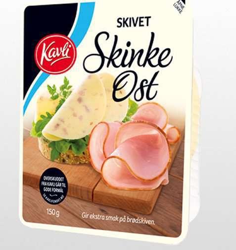 Bilde av Kavli skivet ost med skinke.