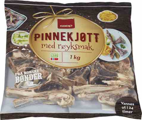 Bilde av Coop Lam Pinnekjøtt Røkt.