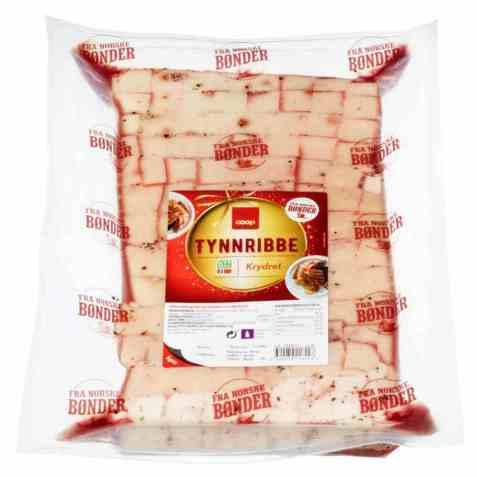 Bilde av Coop Krydret Tynnribbe ca 2,3kg.