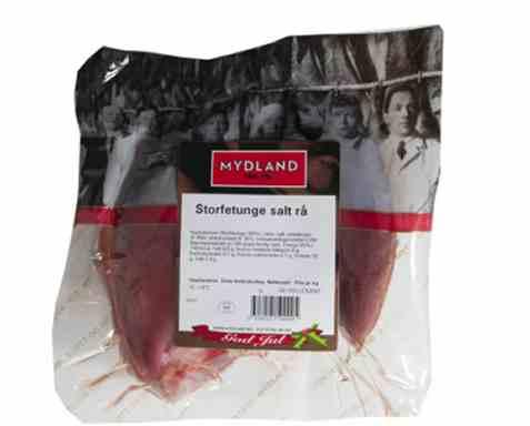Bilde av Mydland Storfetunge Salt Rå.