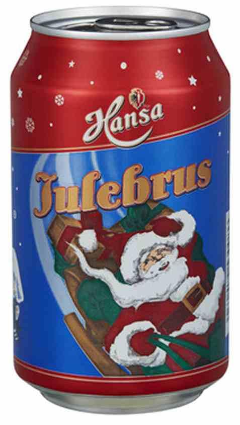 Bilde av Hansa julebrus 0,33l boks.