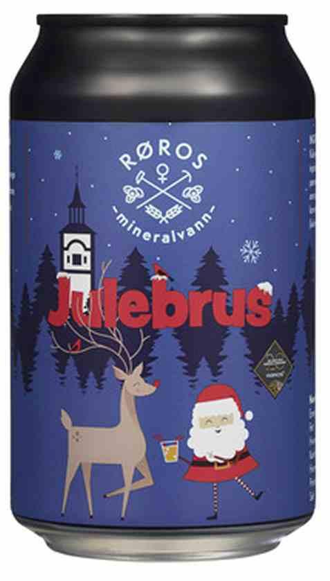 Bilde av Røros Mineralvann julebrus 0,33l boks.