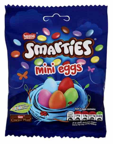 Bilde av Nestle smarties mini eggs 80 gr.