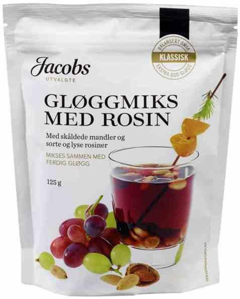 Bilde av Jacobs Utvalgte gløggmiks med rosin 125gr.