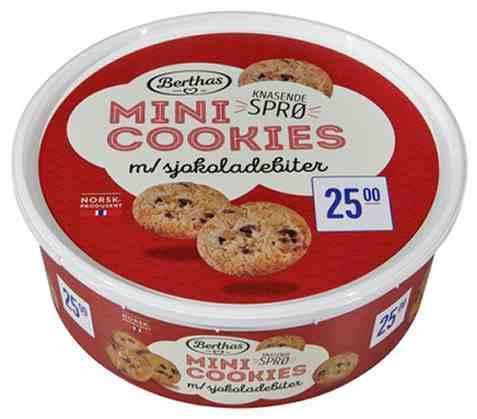 Bilde av Berthas mini cookies med sjokoladebiter 240gr.