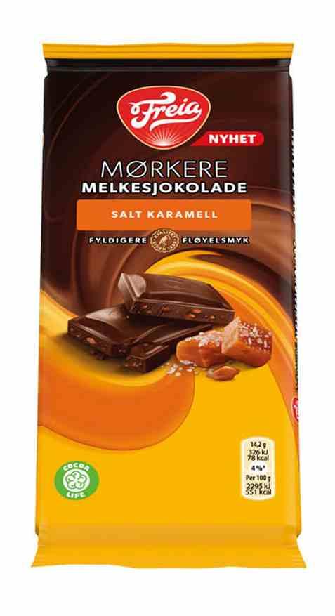 Bilde av Freia Mørkere Melkesjokolade salt karamell 85gr.