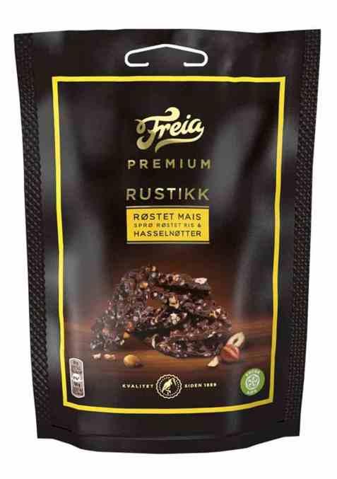 Bilde av Freia Premium rustikk mais og hasselnøtt pose 120 gr.
