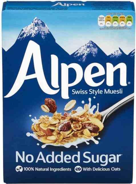Bilde av Weetabix alpen musli uten sukker.