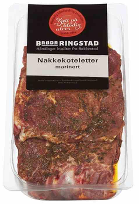 Bilde av Brødrene Ringstad Nakkekoteletter marinert 300g.