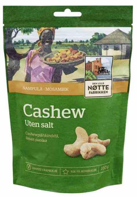 Bilde av Den Lille Nøttefabrikken cashew Mosambik 160gr.