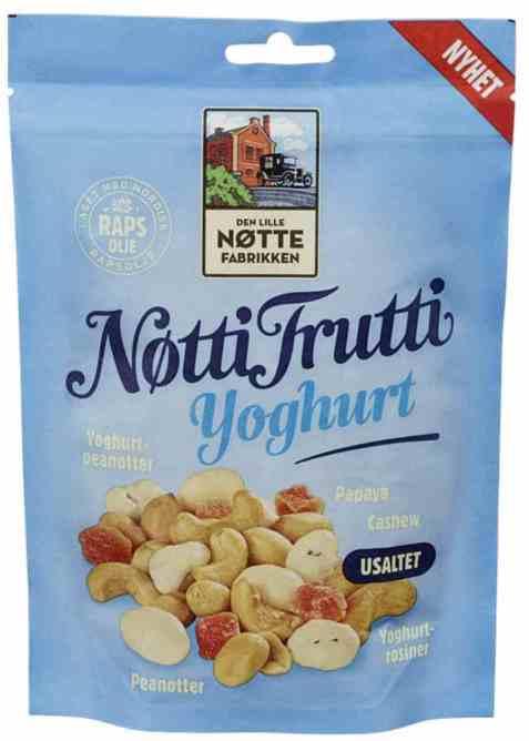 Bilde av Den Lille Nøttefabrikken Nøtti Frutti yoghurt.