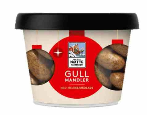 Bilde av Den Lille Nøttefabrikken gullmandler med sjokolade 150gr.