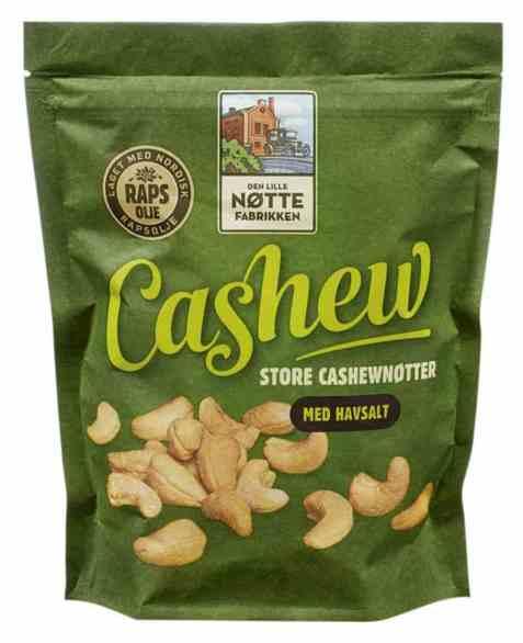 Bilde av Den Lille Nøttefabrikken cashew med havsalt 280gr.