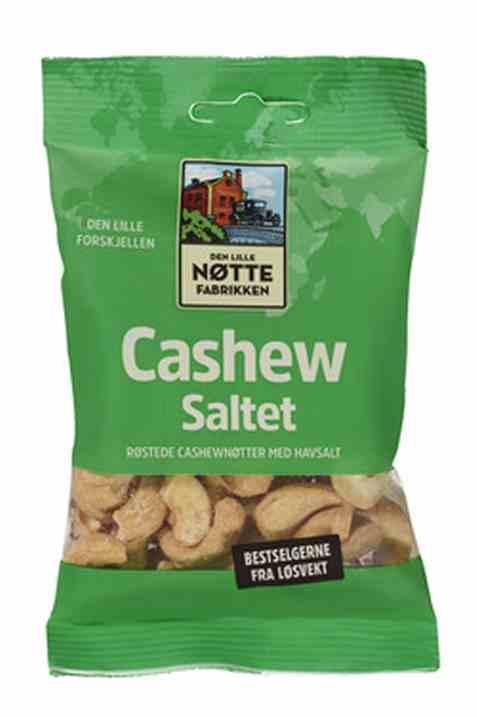 Bilde av Den Lille Nøttefabrikken cashew salte 80gr.