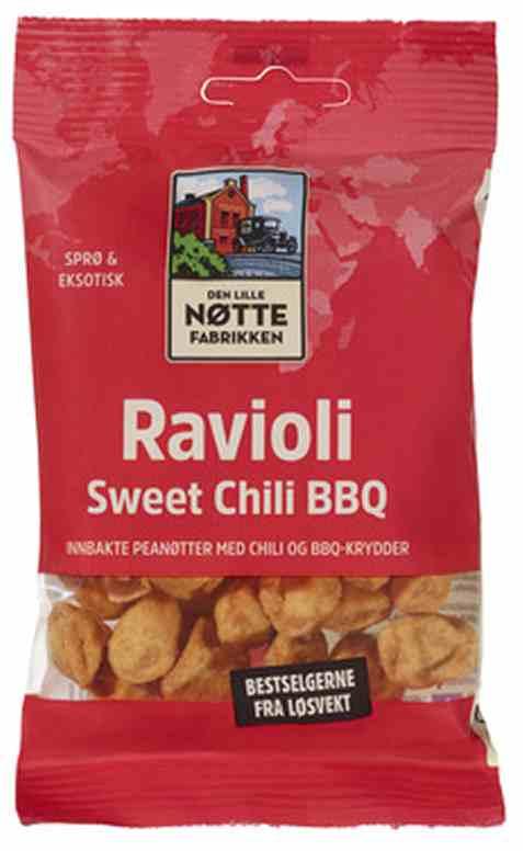Bilde av Den Lille Nøttefabrikken ravioli sweet chili bbq 60gr.