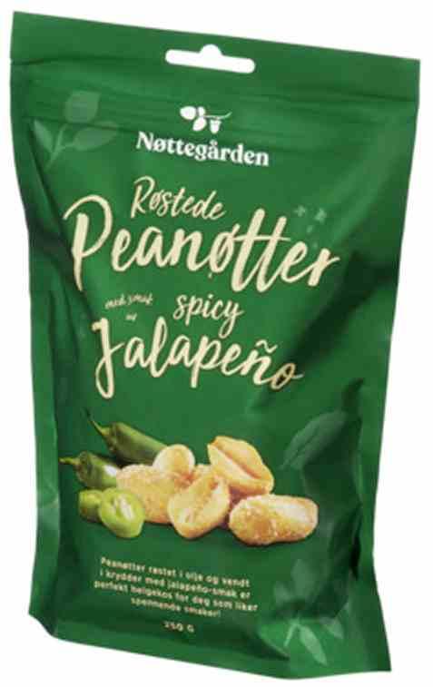 Bilde av Rema 1000 Røstede peanøtter jalapeno 250gr.
