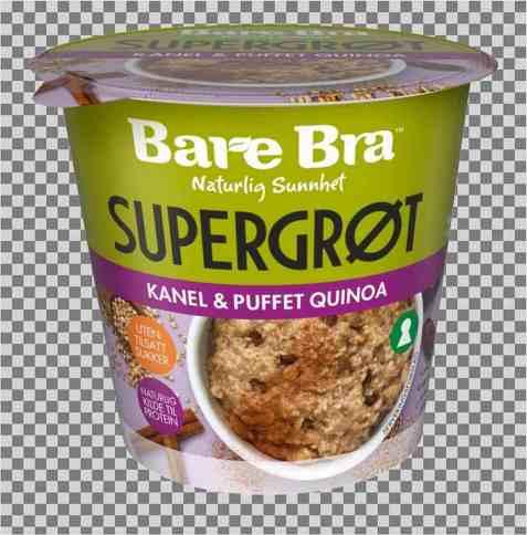 Bilde av BareBra supergrøt med kanel og puffet quinoa.