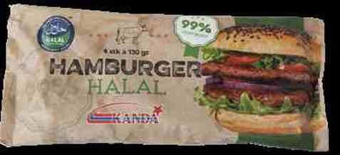 Bilde av Kanda hamburger halal 4x130gr.