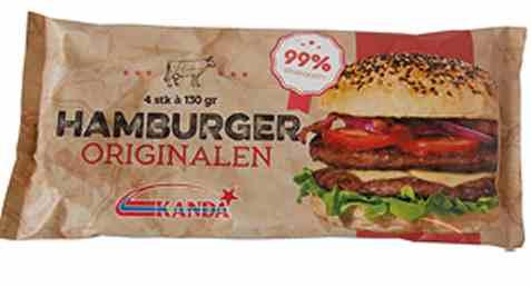 Bilde av Kanda hamburger original 4x130gr.