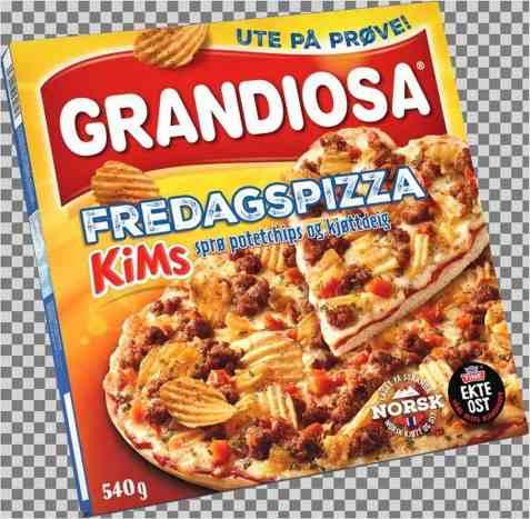 Bilde av Grandiosa fredagspizza.