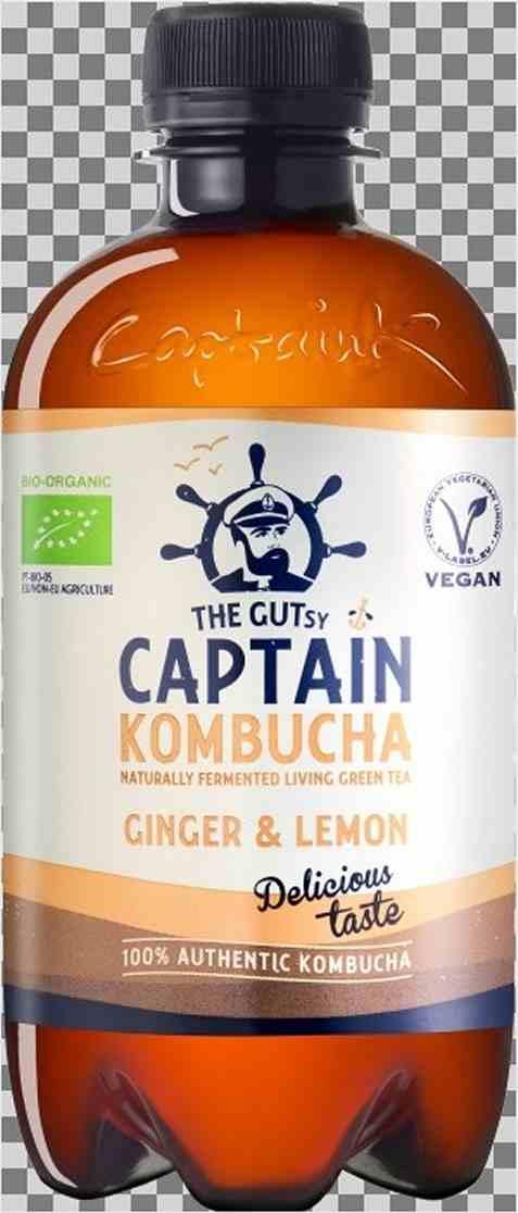 Bilde av Captain Kombucha Fermentert Te ginger og lemon.