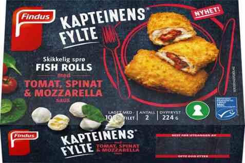 Bilde av Findus Kapteinens fylte fish roll med tomat.