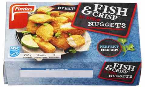 Bilde av Findus Fish & Crisp nuggets.