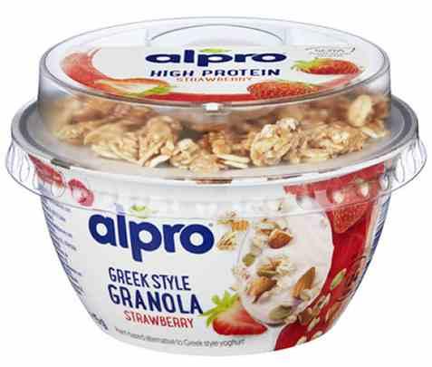 Bilde av Alpro greek style Jordbær Crunchy Bowls 140g.