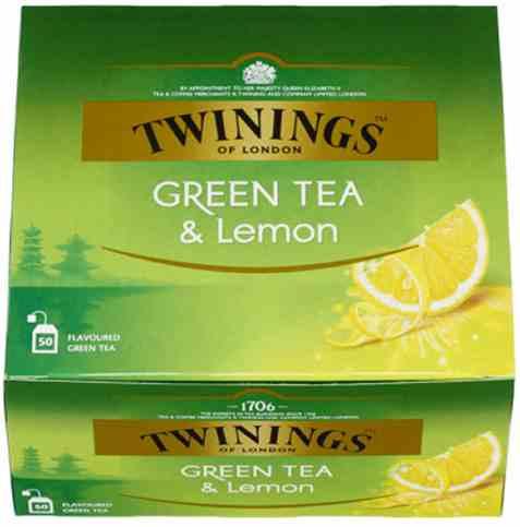 Bilde av Twinings Grønn Te sitron 50 poser.